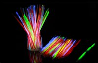 Wholesale Light Up Bracelets Free Shipping - 1000pcs lot 5 colors mixed 8inches(5*200mm) glow stick glow bracelet light up bracelet for party, dj, club Free shipping