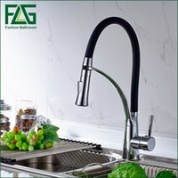 Single Hole 1 Waterfall Newly Design 360 Swivel 100% Solid Brass Single  Handle Mixer Sink