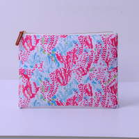 Wholesale wedding handbags free shipping resale online - Canvas Lilly Makeup Bag Crown Ladies Handbag Coral Cosmetic Bags Women Accessories Clutch Wedding Gift DOM106525