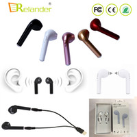 Wholesale Cheap Iphone Earbuds - Cheap HBQ I7 TWS Stereo wireless earbuds in Ear Bluetooth 4.2 EDR headphones for iphone Android phone