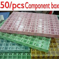 New Genuine alta qualità 50pcs SMD SMT componenti elettronici Mini Storage Box di alta qualità e pratico Gioielli storaged ordine caso $ 18no