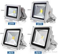 yüksek güçlü rgb spot ışığı toptan satış-Su geçirmez Açık LED Projektör Spotlight 10W 20W 30W 50W yüksek RGB LED Projektör + Uzaktan Kumanda AC85V-265V değiştirme 16 Renkler Powered
