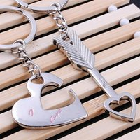 Wholesale Supply Chain Accessories - Fashion Accessories Cupid arrow couple key chain lovers pendant key ring key chain Party supplies