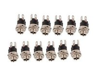 Hot vente 10pcs 5.5mm X 2.1mm DC Power Supply Métal Jack Socket Livraison gratuite