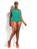 franja monokini mais maiô de tamanho venda por atacado-2015 Swimwear Plus Size Mulheres Sexy One Piece Swimsuit Franja ST. TROPEZ Bikini Halter Maiô Acolchoado Monokini