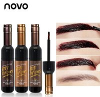 Wholesale red eye tattoo - NOVO Brand Eye Makeup Red Wine Eye Brow Tattoo Tint Long-lasting Waterproof Dye Eyebrow Gel Cream Mascara Make Up Cosmetics
