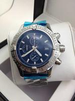 часы с хрономатой оптовых-Горячая распродажа мужские кварцевые хронограф Windrider спортивные часы Chronomat Evolution из нержавеющей стали Dive мужские спортивные часы