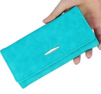 billeteras de fútbol al por mayor-FootBall Design mujeres monedero largo bolsos de embrague PU cremallera con tarjetero