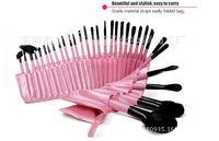 set de brosse à maquillage rose 32pcs achat en gros de-Gros-professionnel 32pcs yeux cosmétiques maquillage Kit de pinceaux 32 pcs pinceaux de maquillage outils mis beauté noir rose brochas pinceaux maquillage
