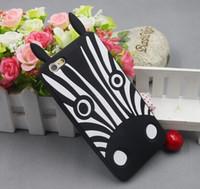 Wholesale Zebra Iphone Case Wholesale - 2014 hot Cartoon Animal Design Love Dog Zebra Owl Soft Silicone Cases Cover For iPhone 6 Case 4.7 Inch 5pcs lot free ship