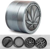 ingrosso foglie di acero-Nuovo arrivo Amsterdam Grinders 4 pezzi grinder in lega di zinco Herb grinder Metallo CNC grinder 40mm diametro acero a forma di foglia Progettato con Pol
