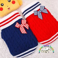 Wholesale Cheap Clothes For Male - Dachshund dog clothes clothing for pets red blue cheap cute dog sweater striped winter christmas sweaters for cats winter dog coats WD09