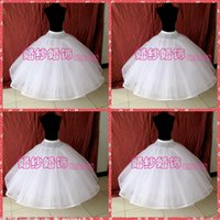 Wholesale Eight Ball - High Quality Eight Layers No Hoops Petticoats For Bridal Wedding Gowns White Organza Ball Gown Underskirt For Bridal Accessories Crinoline