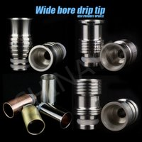 Wholesale Dct Pieces - Top Quality 2.4ohm Metal Drip Tip Mouth Piece for Ego VIVI Nova Mini VIVI Nova DCT Tank Smoking Atomizer Electronic Cigarette churchill shop