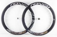 Wholesale Carbon Fiber Front Wheel - Super light! road carbon wheels 50mm clincher clincher carbon wheelset 50mm 700C road bike full carbon fiber road bicycle wheels