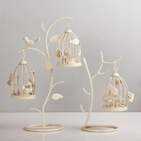 Wholesale Chinese Candle Chandelier - Moroccan Style Candle Stick Candleholder Vintage Tea Light Candle Holder Hollow Bird Cage High Quality Cheap Candlestick Wedding Decor Gifts
