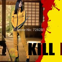 Wholesale Kill Bill - Wholesale-2015 hot sale top fasion anime cos costume kill bill the bride cosplay halloween dress up full coat pants custom made any size
