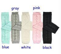 Wholesale Wholesale Toddler Knit Leggings - Newest Children Girls Cotton Socks Toddlers Diamond Leg Warmer Tube Socks Arm Warmers Baby Knitted Leggings Socks 5colors choose