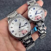 schauen schmetterlingsliebhaber großhandel-2017 Fashion Clock Women / man Uhr mit Datum Luxus Armbanduhr StainlessSteel Armband Luxus Liebhaber Uhren Saphirglas Butterfly Spange