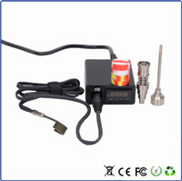 Wholesale hot runner coil heaters online - Mini Enail Electric Nail Dab Coil Heater E Nail Dnail D nail Hot Runner with Titanium Nail Included Electric nail heater box Electric