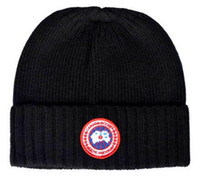 Wholesale Christmas Goose - Canada Men Knitted Hats Goose Winter Warm Beanie Unisex Skull Caps CG Fashion Crochet Hat Gorros Sports Hat Skiing Cap Beanies free shipping