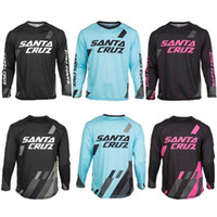 Wholesale Downhill Cycles - 2015 New arrived long Jersey SANTA CRUZ MTB Offroad Moto Cross Downhill Jersey Cycling Bike Sports Jersey Wear T-shirts Clothing