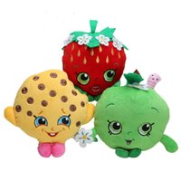 Wholesale- 3pcs / Set 18-20cm Strawberry Cookie Green Apple Peluche Frutta Serie Doll Baby Gift Nuovo regalo creativo presente frutta di buona qualità