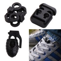 Wholesale Cord Stoppers Wholesale - Elastic Shoe Lace Shoelace Buckles Stopper Rope Clamp Paracord Cord Locks 00871