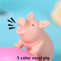 Wholesale Screams Pigs - Funny vent toys Decompression toy screaming pig Anti Stress Relief Healthy pig Rubber Sound Screaming Toy ouc2093
