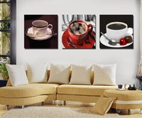 Wholesale Canvas Fashion Picture - Fashion Modern Art Mug Frameless Painting Home Decoration Canvas Painting 3PCS Wall Art Picture Free Shipping