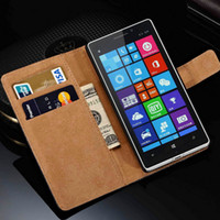 Wholesale Wallet Wholesalers Site - Wholesale-Genuine Leather Wallet Stand Case for Nokia Lumia 930 Luxury Leather Cover with Card Holders and Bill Site