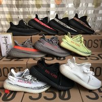 Wholesale Mesh Flat Shoes - 2017 Boost 350 V2 Zebra Cp9654 Orange Grey Beluga 2.0 AH2203 Black Red Bred CP9652 Kanye West Running Shoes For Sale