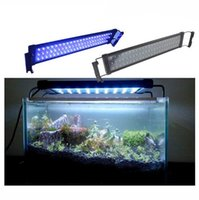 30cm étendu à 48cm 6W 100-240V Plug and Play Blanc + Bleu LED Aquarium Lumière Fish Reef Débardeur Power Supply