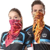 Atacado- DICHSKI Máscara facial de ciclismo Multi Triangular Towel Balaclava Scarf Bike Headwear Coolmax Máscaras de pescoço Skull Bicycle Face Shield H058