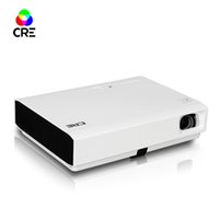 Wholesale hdmi equipment - Wholesale- CRE X3001 School Offices Equipment Full Sealed Dustproof All-alloy Optical Zoom 1.0 SD Card 100Watts Battery Power projector