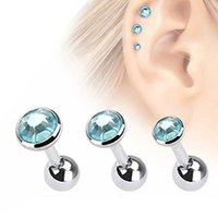 3 Pcs Ear Studs strass Tragus Helix Bar Orecchini penetranti per cartilagine