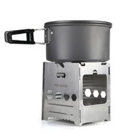 Wholesale High Altitude - outdoor multifunctional portable camping stove  Army fans wood gas stove  grill combination portable wood stove