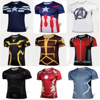 Wholesale Batman Tshirt Women - Tshirt Free Shipping 2015 New Compressed 3d T Shirt Hot Superman batman Men Sports Quick Dry Fitness Clothing Captain America