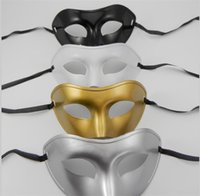 Wholesale Mens Masquerade Party Mask - 2015 new arrive Masquerade Mens Masks Halloween Christmas Masquerade Masks Venetian Dance party Mask Men mask 4 colors D165