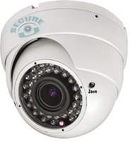 Wholesale 12mm Dome Cctv Camera - Best 1200TVL Vari-Focal 2.8-12mm Manual Zoom Lens Wide Angle Dome Vandalproof CCTV Outdoor Indoor Security Surveillance Video Monitor Camera