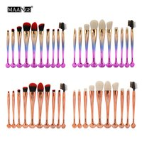 Wholesale maange brush set for sale - Group buy Maange New Professional Shell Makeup Brushes Set Foundation Blending Powder Eyeshadow Eyeliner Eyebrow Lip Cosmetic Tools