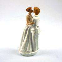 "Wholesale Romance Wedding Cake Topper - Wholesale-Wedding Cake Decoration ""Romance"" Gay Lesbian Wedding Cake Topper cake doll"