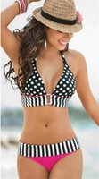Wholesale Crochet Swimsuit Cheap - Retail 2015 new normal size sexy bikini Brand Fashion style Swimwear Nice Women Beach two pieces Cheap Swimsuit Retro Crochet bikini set