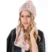 Cheap Wholesale-2015 Wholesale Cheap Women's Hat Girl Knitted Wool Neck Ring Circle Scarves Infinity Winter Hat and Scarf Set for Women