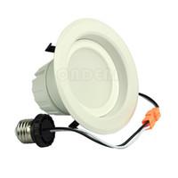 kit de luz empotrada led al por mayor-4 pulgadas 9W Alto brillo Regulable LED Downlight LED Empotrable Kit de iluminación Accesorio Led Retrofit Equivalente lámparas de techo 120V E26