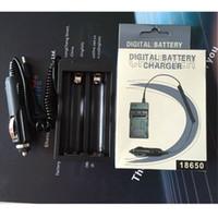 calidad de la batería del coche al por mayor-Alta calidad 18650 cargador de batería recargable EE. UU. Enchufe cargador de pared y cargador del coche envío gratis