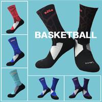 Wholesale Water Socks Men - USA Professional Elite Basketball Socks Adult Nylon Middle tube socks Men Fashion Winter Sports Sock Water-absorbing Moisture Anti-Slip