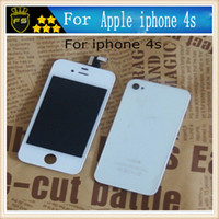 Wholesale Iphone 4s Glass White - For Apple Iphone 4S LCD Touch Screen Digitizer Display Panel Glass Assembly Part Replacement Lcd For 4s White