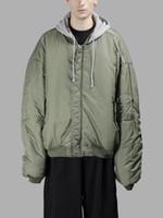 doppelseitige verschleißjacke großhandel-Neue neueste Frauen Männer doppelseitige Wear Vetements Übergröße Justin Bieber Hoodies Mantel AM1 Ma1 Bomberjacke Fliegerjacke Windjacke XS-L