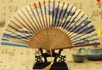 ingrosso ventilatori di mano di ballo giapponesi-All'ingrosso- 2016 New Hot cinese giapponese vintage fantasia ventaglio pieghevole mano di plastica pizzo fiore di seta fan festa forniture per regalo